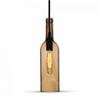 - Palack üveg csillár (E14) - barna színű bura