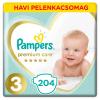 Pampers Premium Care havi Pelenkacsomag 6-10kg Midi 3 (204db)