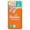 Pampers Sleep & Play pelenka, Midi 3, 4-9 kg, 78 db-os