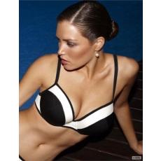 Panache Taylor mélyen kivágott bikini felső, fekete nagyméretű