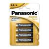 Panasonic Alkaline Power LR6 AA elem MN1500 4 db (ár/bliszter)