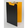 PANTA PLAST Felírótábla, fedeles, A4, PANTAPLAST, fekete-citromsárga