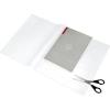 PANTA PLAST Füzet- és könyvborító, áttetsző, fényes felület, állítható széllel, öntapadó csíkkal 550x310 mm, PP, PANTA PLAST