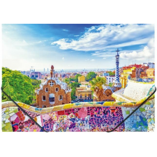 "PANTA PLAST Gumis mappa, 15 mm, PP, A4,  ""Barcelona"" mappa"