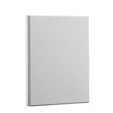 PANTA PLAST Gyűrűs dosszié, panorámás, 4 gyűrű, 75 mm, A4, PP/karton, PANTA PLAST, fehér gyűrűskönyv