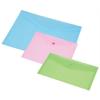 PANTA PLAST Irattartó tasak, DL, pasztell rózsaszín, patentos