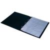 PANTA PLAST Névjegytartó, 400 db-os, gyűrűs, PANTAPLAST, fekete