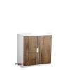 PAPERFLOW Szekrény, rolós ajtós, 2 polcos,paperflow, famintás