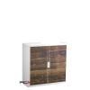 PAPERFLOW Szekrény, rolós ajtós,  2 polcos, paperflow, gerendamintás