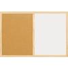 Parafatábla Bi-Office fakeretes 40x60 cm kombi