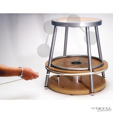 PASCO Forgó szék tárcsa tengellyel iskolai kiegészítő
