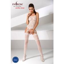 Passion BS050 - szíves-virágos necc szett (fehér) - S-L body