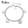 PATICO 925 Sterling ezüst szív charm karkötő