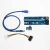 PCI-E Express 1x to16x Extender Riser Card Adapter SATA Power Cable USB 3.0 40c