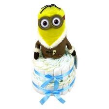 Pelenkatorta Webshop Babaváró ajándék ötlet: Minion IceVillage Kevin pelenkatorta kék pelenka