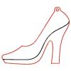 Pentacolor Kft. Pentart Fafigura, 5 db/csomag - cipő 23142