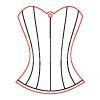 Pentacolor Kft. Pentart Fafigura, 5 db/csomag - fűző 23144