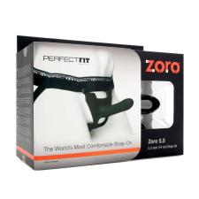 Perfect Fit ZORO 5.5- felcsatolható dildó (14cm) - fekete műpénisz, dildó