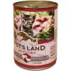 PET'S LAND Cat Junior konzerv marhamájjal, bárányhússal és almával (24 x 415 g) 9.96kg