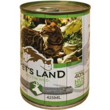 PET'S LAND Cat konzerv vadhússal és répával (24 x 415 g) 9.96kg macskaeledel