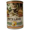 PET'S LAND Pet s Land Cat konzerv Strucchússal Africa Edition 415gr