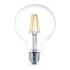"Philips LED izzó, E27, gömb, 8W, 806lm, 2700K, G93,  ""Filament Classic"""