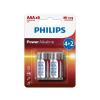 Philips LR03P6BP/10 - 6 db alkáli elem AAA POWER ALKALINE 1,5V