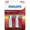 Philips LR14P2B/10 power alkali 2db C elem