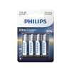 Philips LR6E4B/10 - 4 db alkáli elem AA ULTRA ALKALINE 1,5V