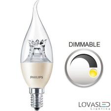 Philips MASTER LEDcandle láng DT 6-40W E14 827 BA38 CL izzó