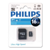Philips MEMÓRIA KÁRTYA MicroSDHC PHILIPS CLASS10 16GB + ADAPTER