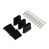 Phobya táp csatlakozó 4 pin Molex dugó beleértve 4 tűt - 5 db fekete