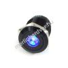 Phobya Vandalism Proof nyomógomb 16mm - fekete alumínium, kék pont világítás, 5pin