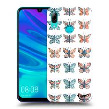 Picasee Fekete szilikon tok az alábbi mobiltelefonokra Huawei P Smart 2019 - Butterflies tok és táska