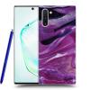 Picasee Fekete szilikon tok az alábbi mobiltelefonokra Samsung Galaxy Note10 N970F - Purple glitter