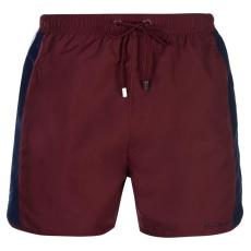 Pierre Cardin férfi fürdőnadrág - Pierre Cardin Panelled Swim Shorts Mens Burgundy