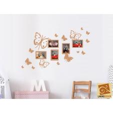 Pillangós falikép képkeret falmatrica matrica