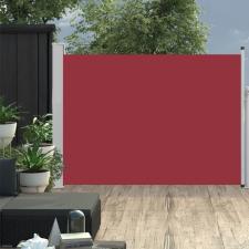Piros behúzható oldalsó teraszi napellenző 100 x 500 cm kerti bútor