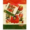 Piros-fehér-zöld antikolt matyó dísztasak 23x18 cm