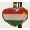 Piros- fehér- zöld szív alakú nyaklánc (33x27 mm)