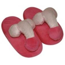 Plüss Plüss papucs rózsaszín - péniszformájú erotikus ajándék