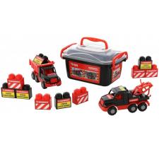 Polesie Mammoet mini teherautók, építőkockákkal autópálya és játékautó