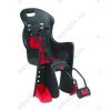 Polisport Boodie gyerekülés hátsó vázra, fekete, piros párnával