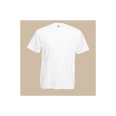 póló fehér kereknyakú 100% pamut (M)