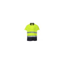 Portwest Póló S174 jólláthatósági sárga/tengerészkék M munkaruha