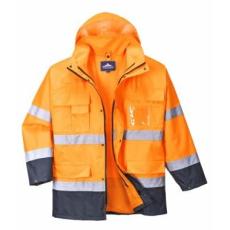 Portwest S162 -  Hi-Vis Lite 3 in 1 kabát - narancs/tengerészkék