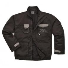 Portwest TX18 - Texo Contrast bélelt munkáskabát - fekete