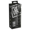Power Vibe Beady - akkus, gyöngyös anál vibrátor (fekete)