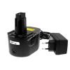 Powery Utángyártott akku Black & Decker Akkus fúró csavarbehajtó CD14CA Li-Ion +töltő