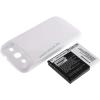 Powery Utángyártott akku Samsung SGH-T999V fehér 3300mAh